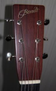 Berndt Guitars Indian Rosewood D headstock